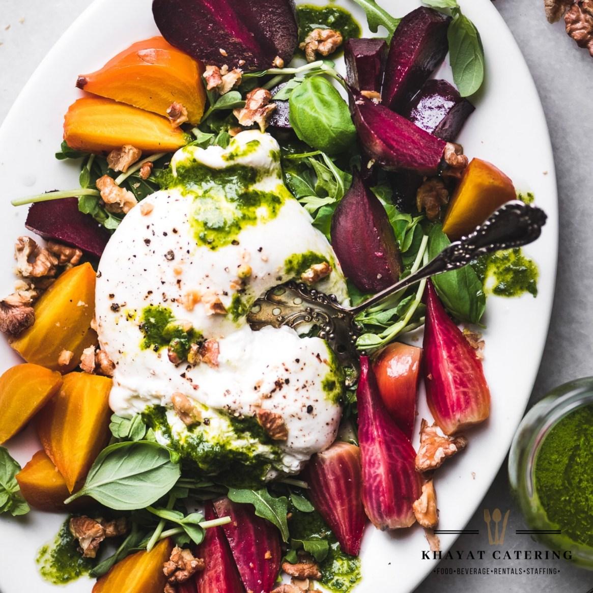 Khayat Catering burrata and beet salad