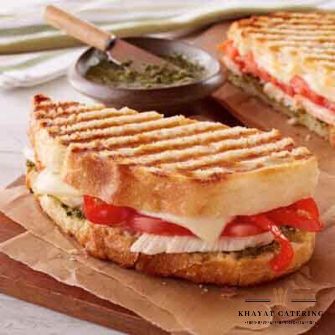 Khayat Catering chicken pesto panini