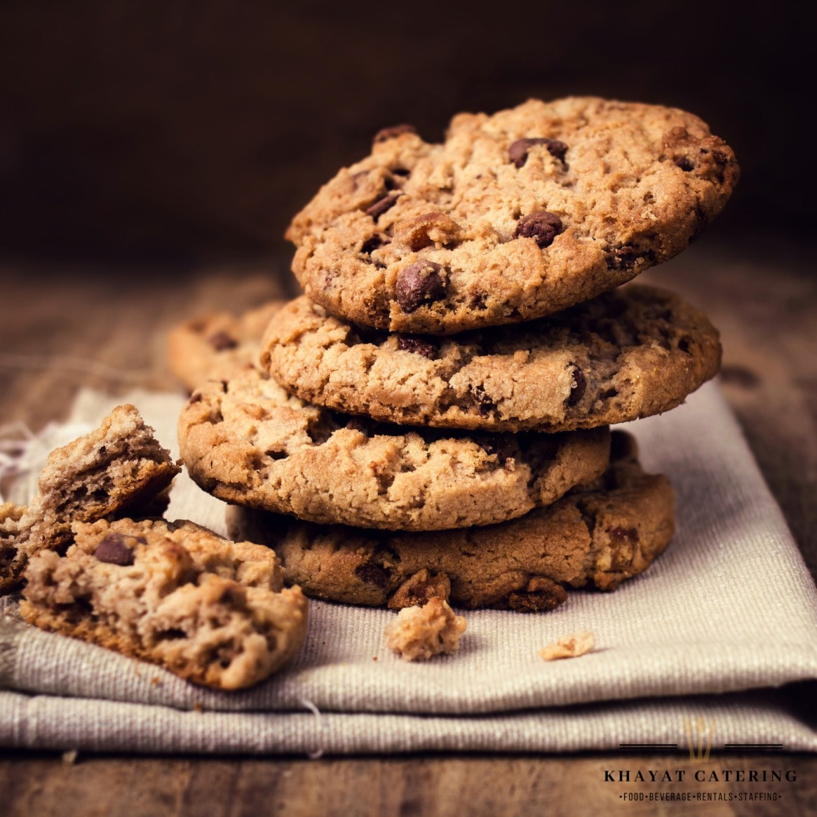 Khayat Catering chocolate chip cookies