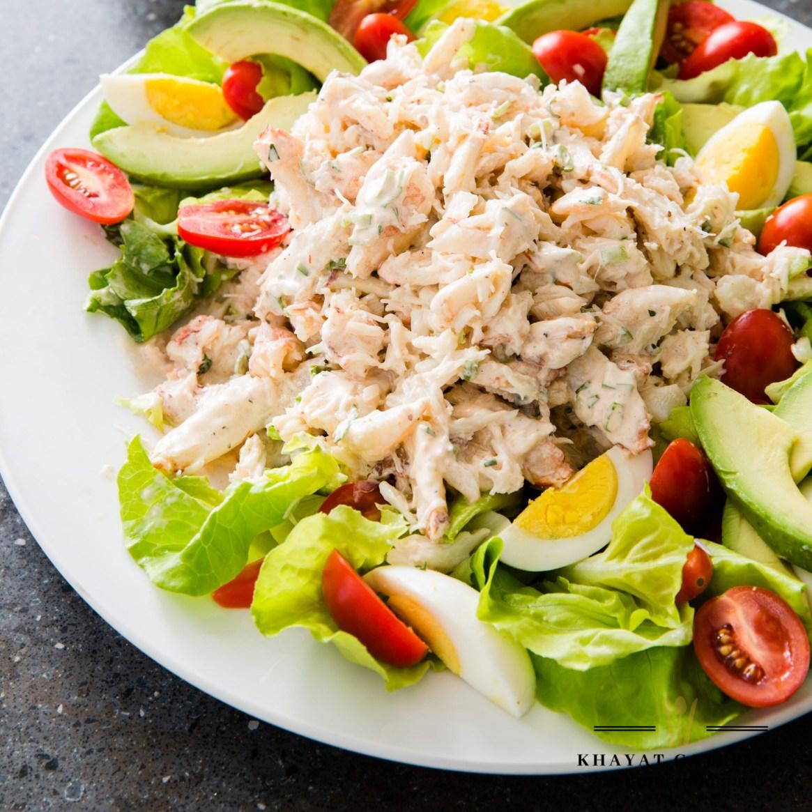 Khayat Catering crab and shrimp Louie salad