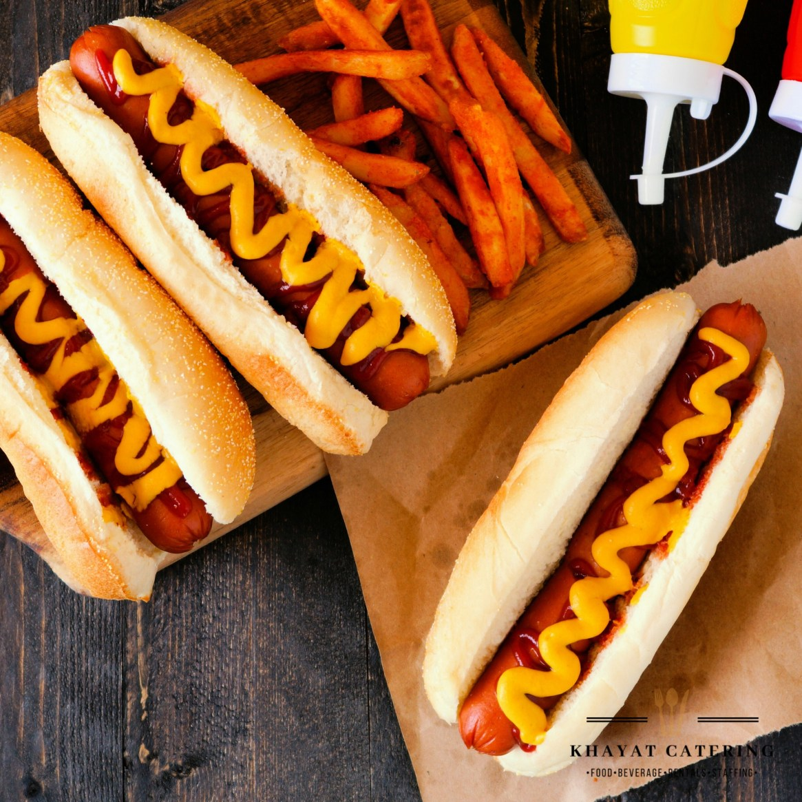Khayat Catering hot dogs