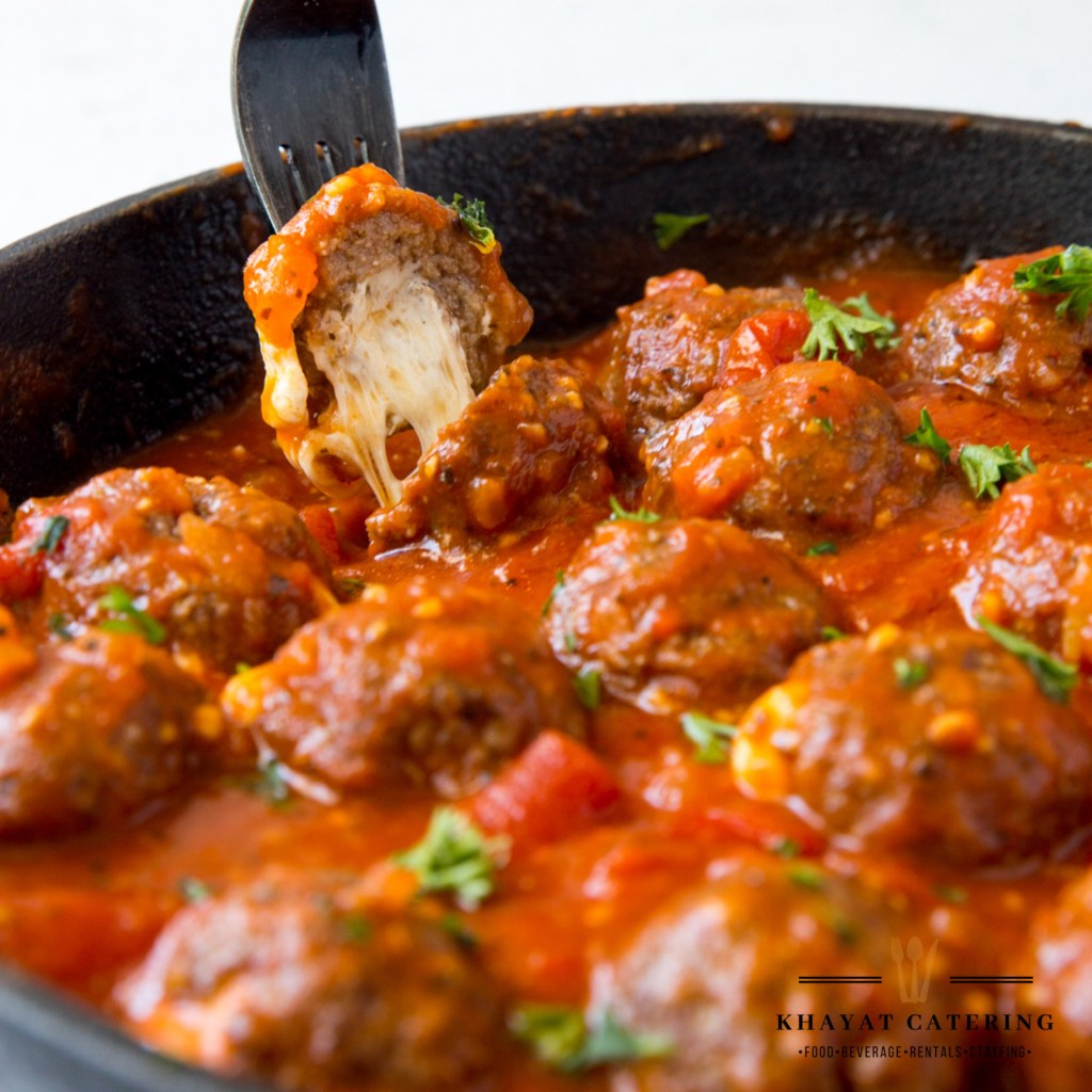 Khayat Catering mini stuffed meatballs