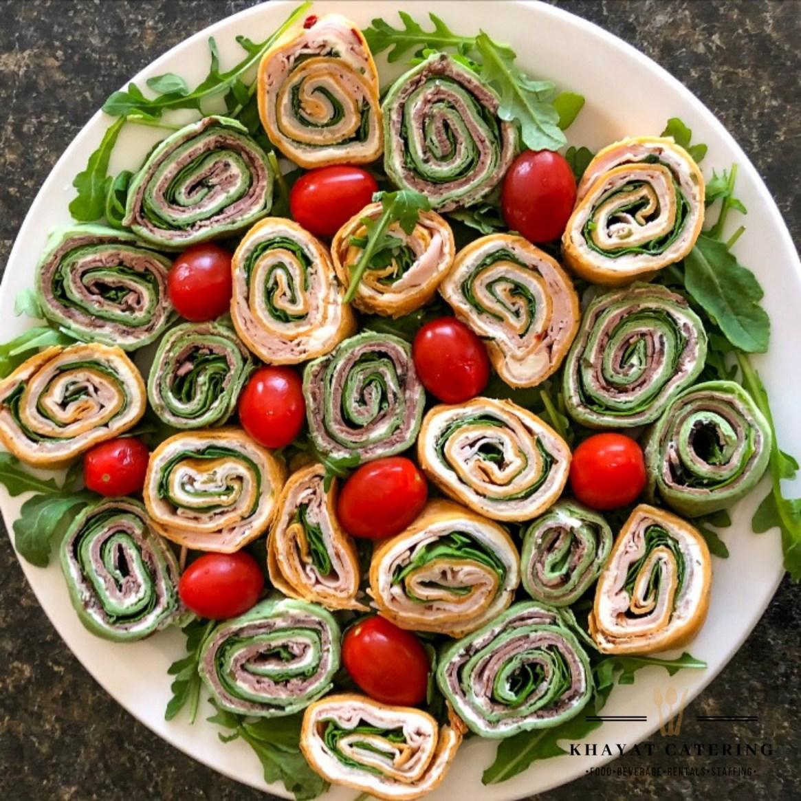 Khayat Catering pinwheel platter