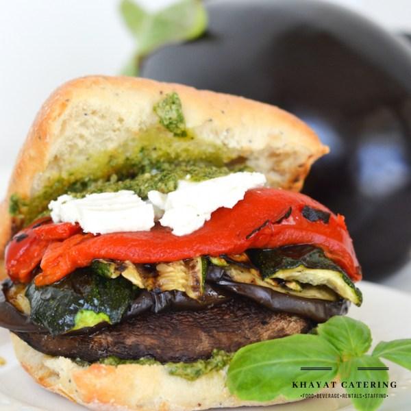 Khayat Catering portobello sandwich