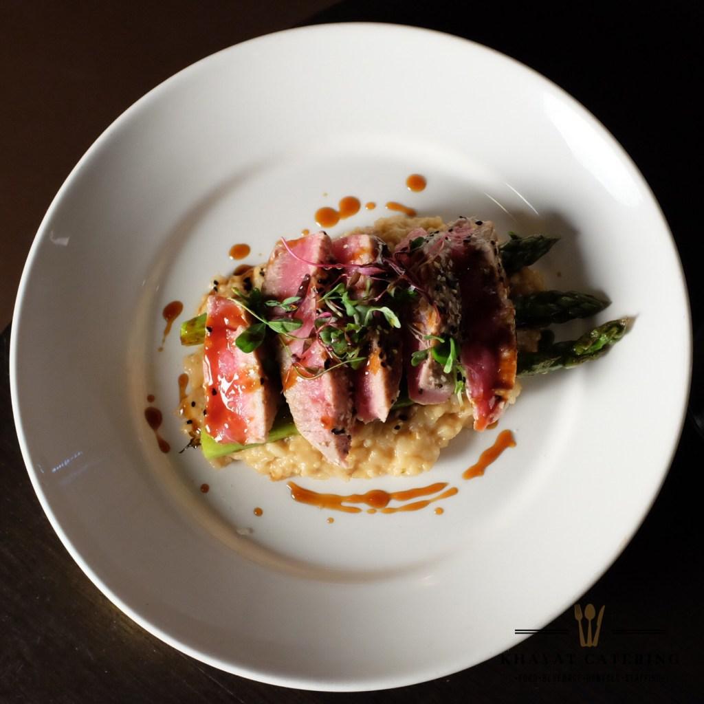 Khayat Catering seared ahi tuna
