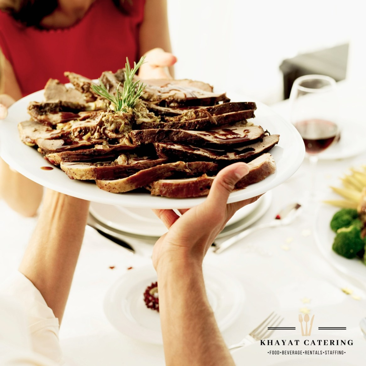 Khayat Catering sliced roast bee