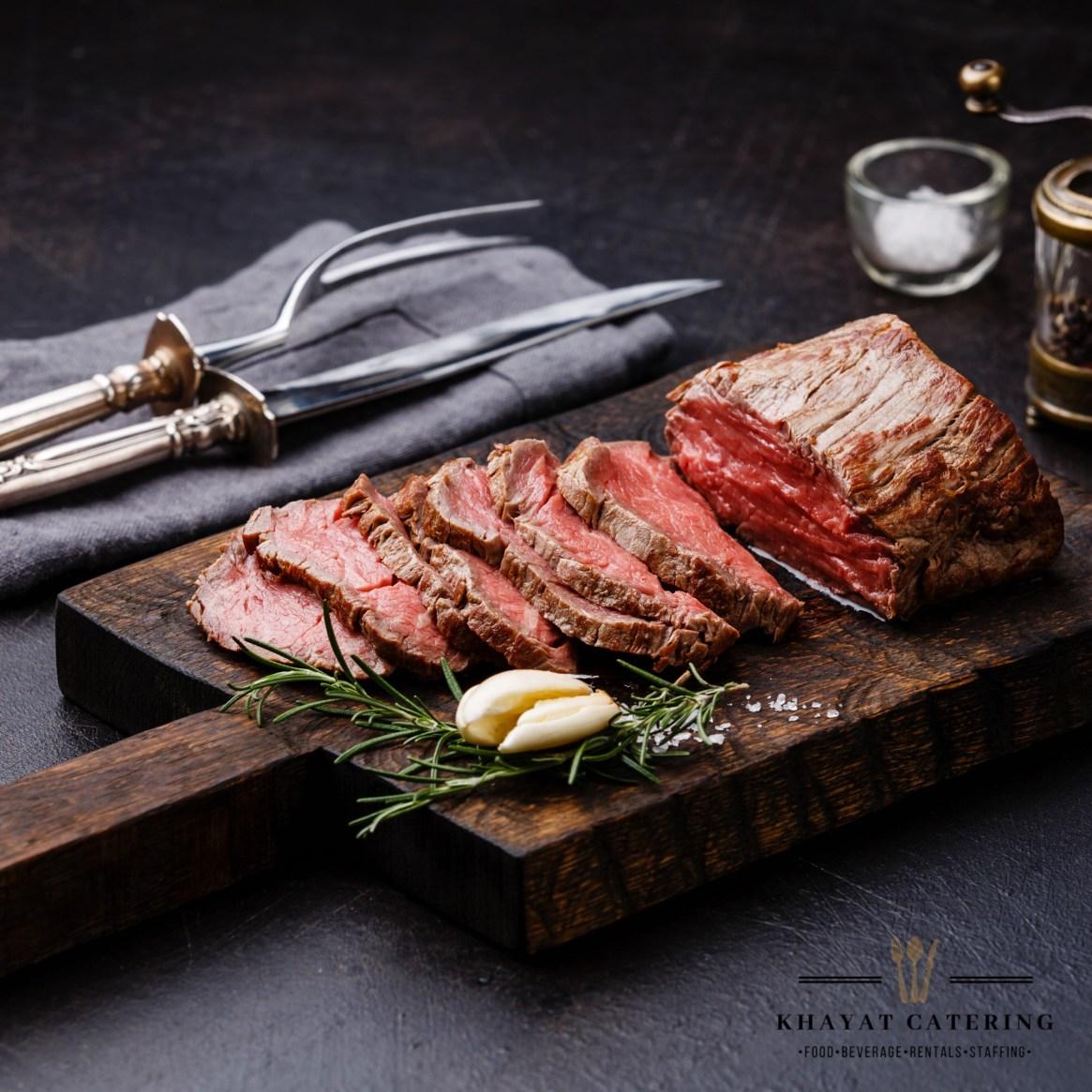 Khayat Catering usda prime beef tenderloin