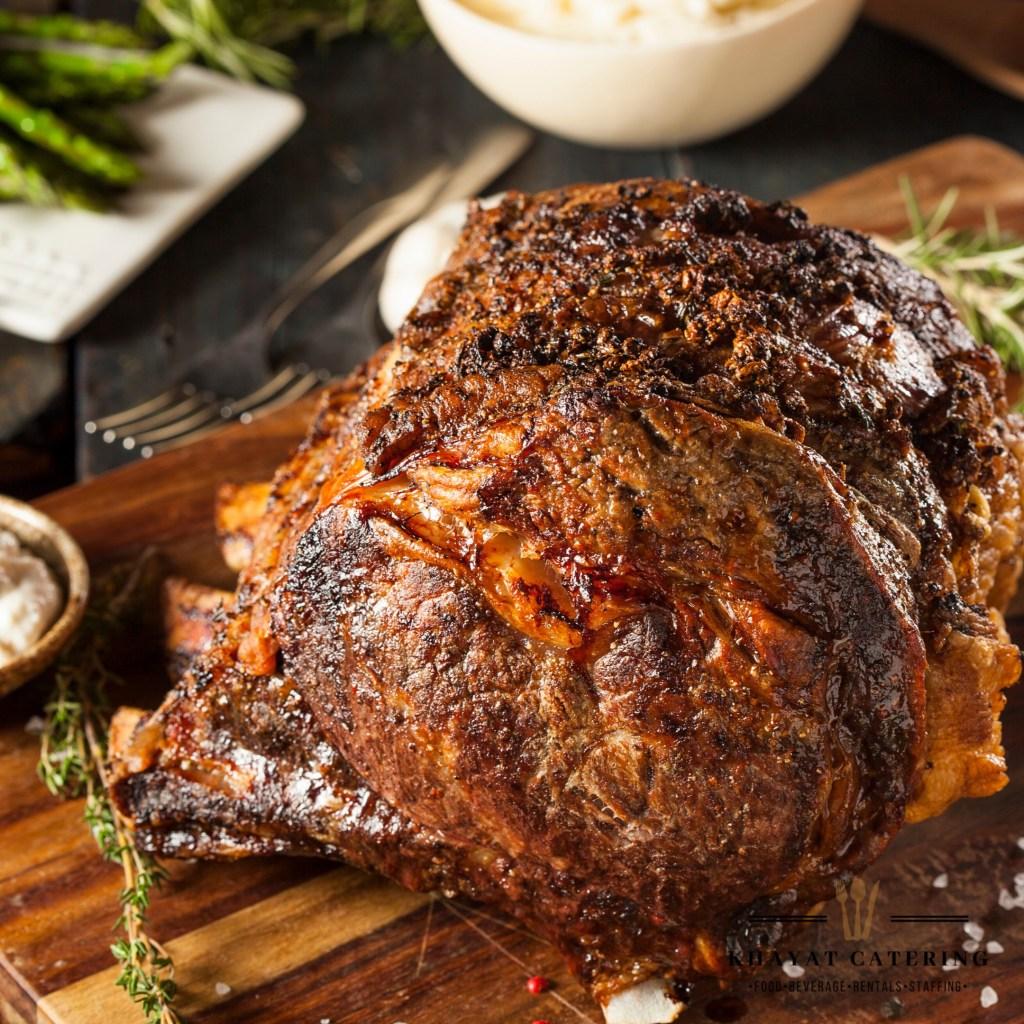Khayat Catering whole prime rib