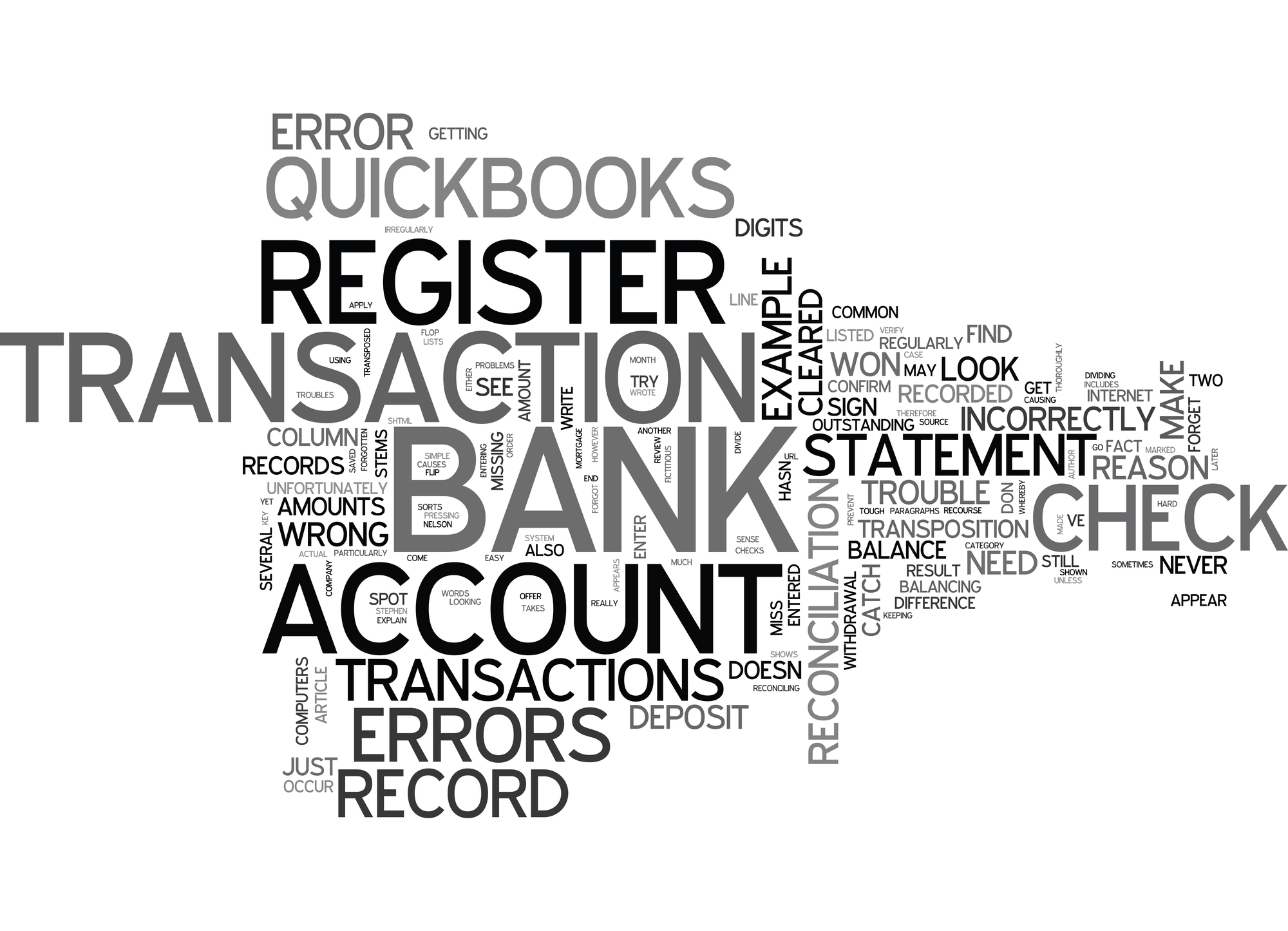 WHEN QUICKBOOKS DOESN T BALANCE TEXT WORD CLOUD CONCEPT