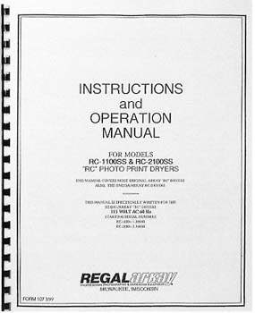 Instruction Manual for Arkay RC-1100 and RC-2100 Print