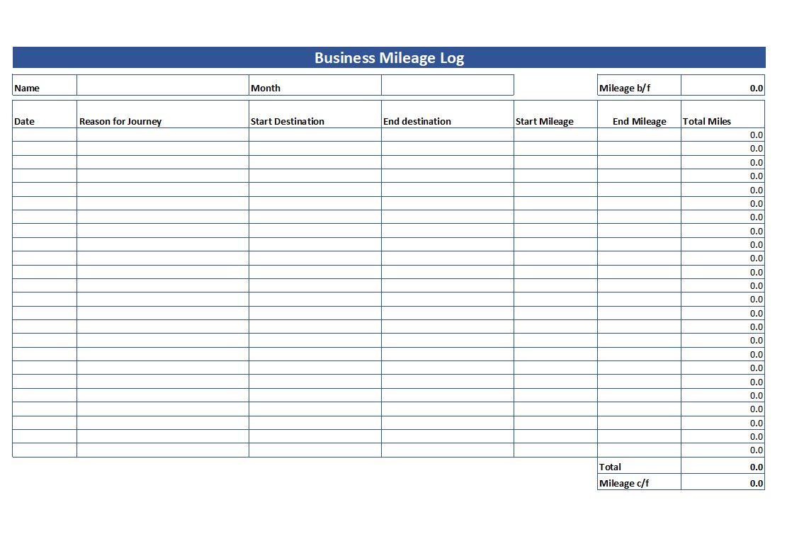 Simple Mileage Log