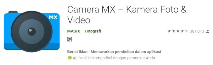 Camera MX aplikasi kamera anak hits