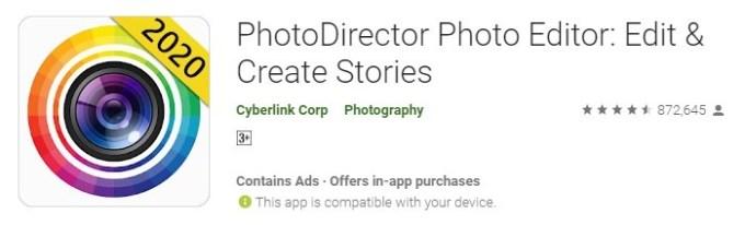 PhotoDirector aplikasi kamera keren dan terbaru