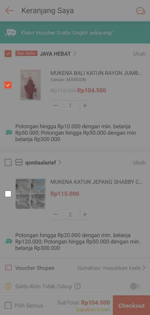 pilih yang mau dibeli