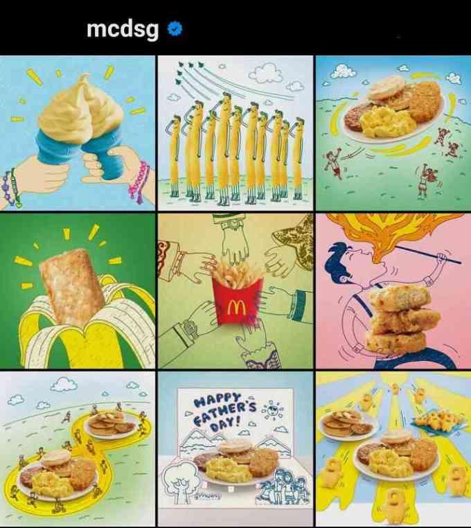 kumpulan ide feed instagram dengan doodle