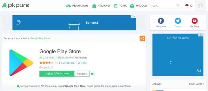 cara download play store di pc