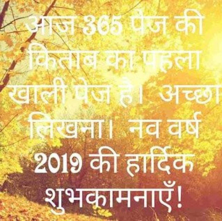 Happy New Year 2019 Quotes,Messages,Best Wishes,Status in Hindi