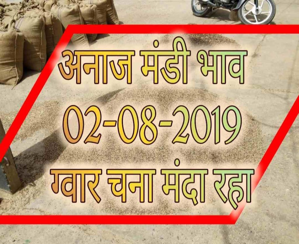 Mandi Bhav 02-08-2019 mandi rates