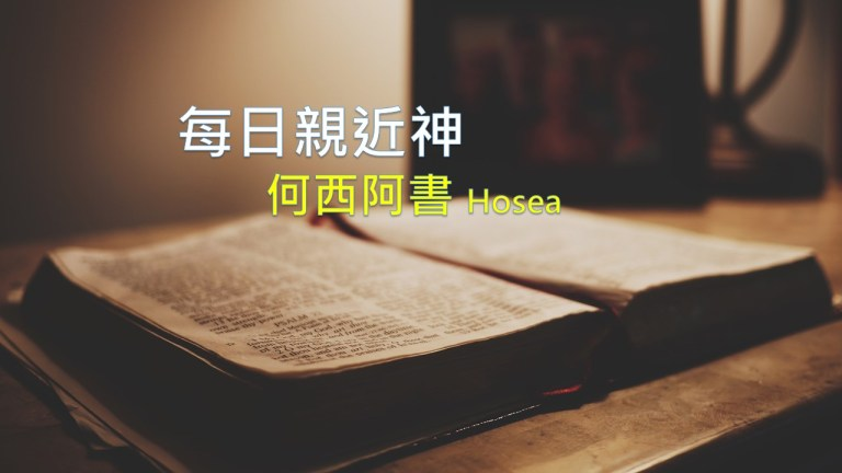 Read more about the article 每日親近神 2021/01/29 何西阿書 第8天