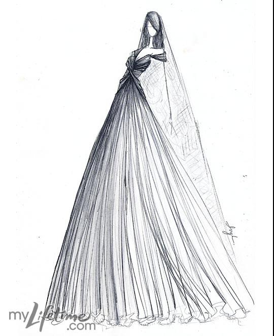 Kate's wedding dress sketched by Project Runway designers