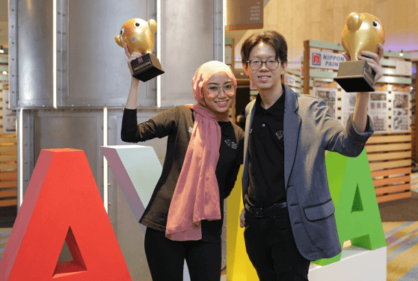 Nippon Paint AYDA 2019 Award Ceremony - Sharifah Binti Mohamed, Gold Winner, Interior Design category & Tien Jun Xiang, Gold Winner of the Architecture category