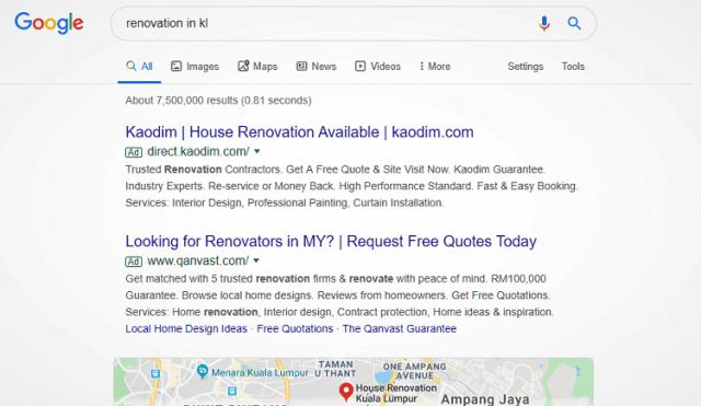 Pemasaran Search Engine Marketing (SEM)
