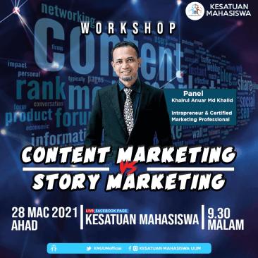 Content Marketing vs Story Marketing, Kesatuan Mahasiswa UUM,