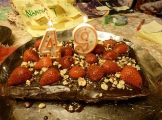 Chocolate cake to celebrate Ravi's 49th birthday