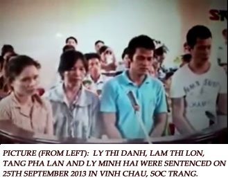Supporters of Thach Thuol on Trial