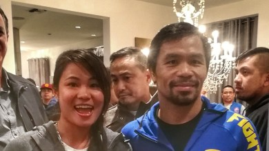Photo of Tharoth Sam Oum training with Manny Pacquiao this weekend