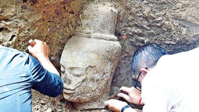 Photo of Bodhisattva statue unearthed