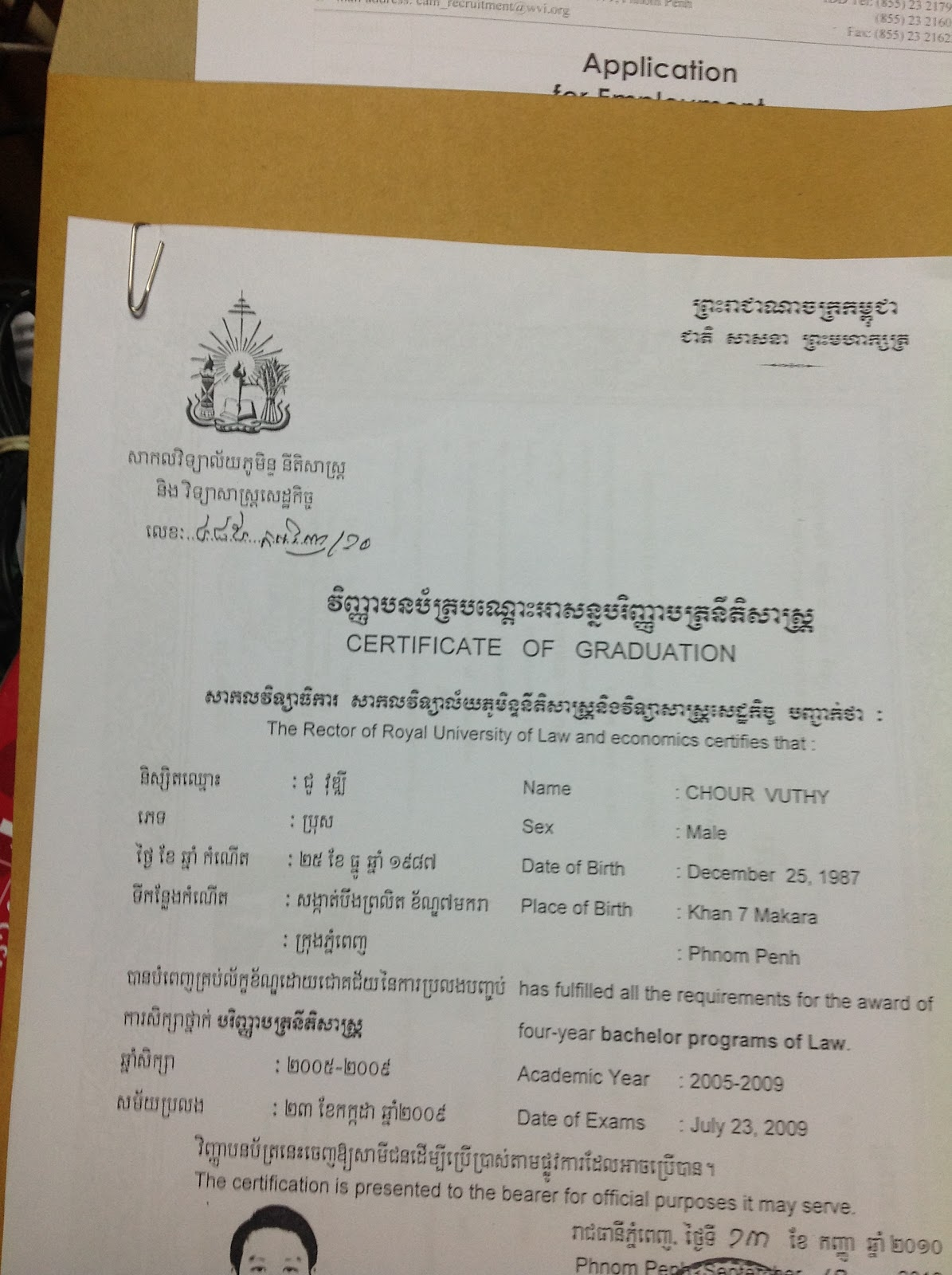 How To Prepare Job Application Khmer Personnel