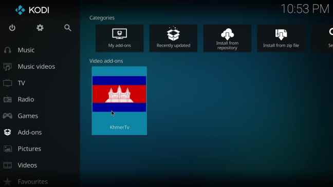 After you completed installing Kodi and Khmer TV add-on you will Khmer TV available.