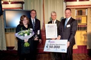 Nieuwe ICT Prijs van € 50.000,- voor Bettina Speckmann'