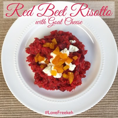 Red Beet Freekeh Risotto Recipe