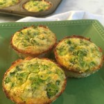 Mini Broccoli & Cheddar Quiches with Cauliflower Crusts