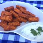 "Tempeh Buffalo ""Wings"" with Greek Yogurt Dip"