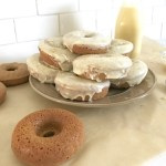 Gingerbread Donuts with Eggnog Glaze