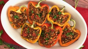 Vegan Sloppy Joe Stuffed Peppers