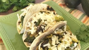 Roasted Brussels Sprout Tacos with Garlicky Black Bean Spread