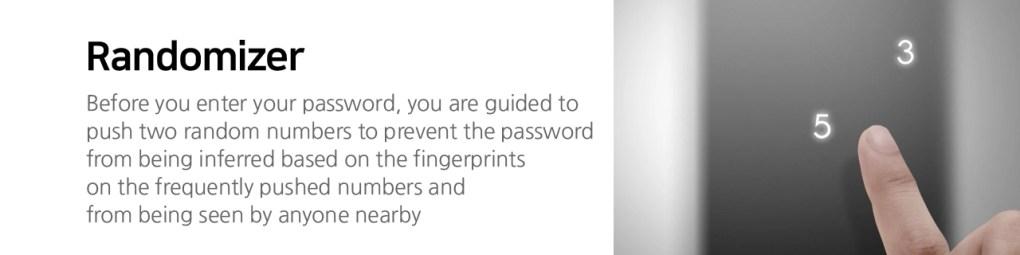 Khoá cửa điện tử hiện thị cài đặt mật khẩu  ngẫu nhiên