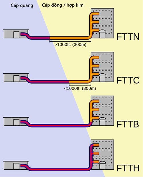 Internet cáp quang FTTH và FTTB, đâu là điểm khác biệt?