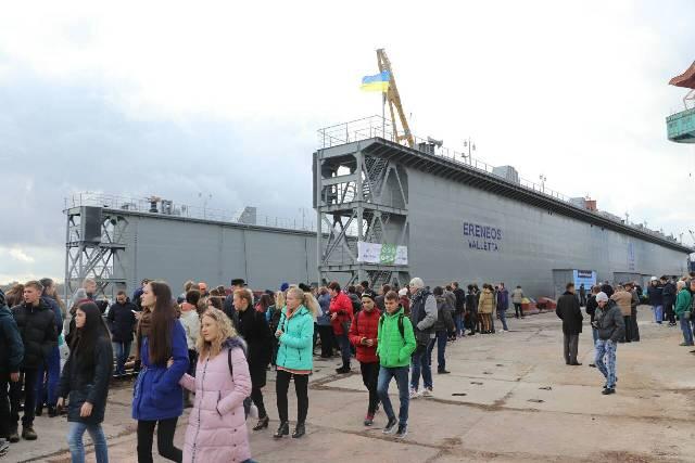 ХДЗ «Палада» передав кіпрській компанії побудований плавучий док за 8 млн доларів