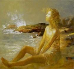The Numinous Ocean - Oil on Canvas 28 x 30