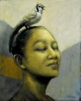 Bluejay - Oil on Canvas 24 x 30