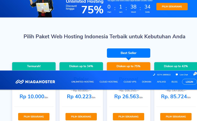 harga hosting di niagahoster
