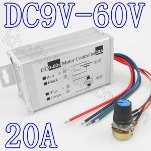 Bộ điều khiển tốc độ động cơ DC 9V-60V 20A