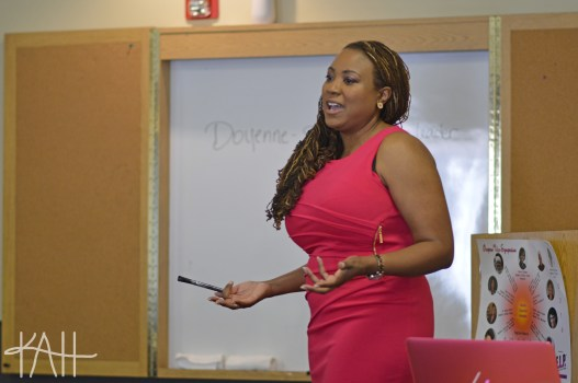 "Dr. Nadia Brown began the two-day symposium with a VIP presentation about how to ""lead like a lady""!"