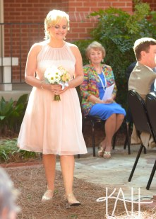 A radiant bride makes her stride down the aisle!