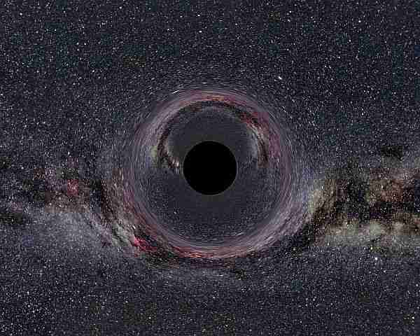 Kara deliğin ışığı bükmesi.